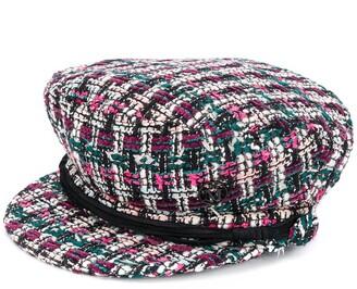Maison Michel Tweed Paperboy Hat