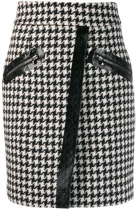 Philipp Plein Houndstooth Short Skirt