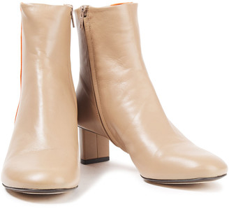 Joseph Avenue Two-tone Leather Ankle Boots