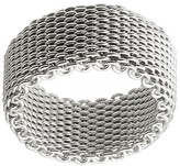 Journee Collection Women's Mesh Band in Sterling Silver - Silver