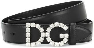 Dolce & Gabbana Embellished leather belt