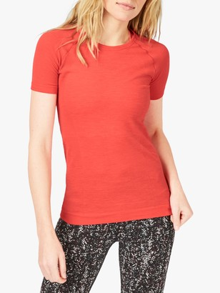 Sweaty Betty Athlete Gym T-Shirt, Tulip Red