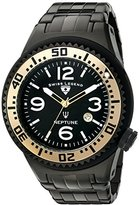 Swiss Legend Men's 'Neptune Force' Quartz Stainless Steel Casual Watch, Color:Black (Model: 21819P-BB-11-GA)