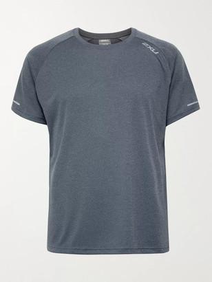 2XU XVENT G2 Logo-Print Stretch-Jersey and Mesh T-Shirt - Men - Gray