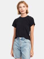 A Gold E Agolde Linda Boxy Crewneck T-Shirt