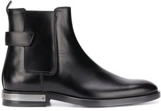 Balmain Plaqued Heel Ankle Boots