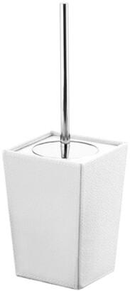 Nameeks Square White & Ceramic Toilet Brush Holder
