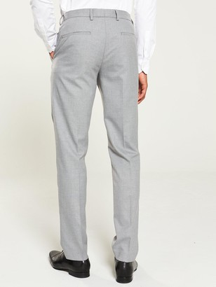 River Island Grey textured skinny suit trousers