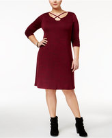 ING Trendy Plus Size Crossover Dress