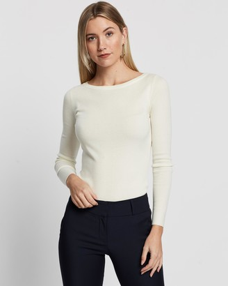 Forcast Stacey Boat Neck Knit