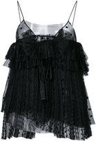 Rochas ruffled blouse - women - Cotton/Polyamide - 38
