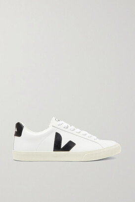 Veja Net Sustain Esplar Rubber-trimmed Leather Sneakers - White