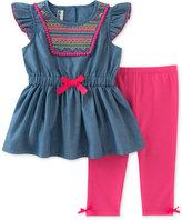 Kids Headquarters 2-Pc. Embroidered Tunic & Capri Pants Set, Little Girls (2-6X)