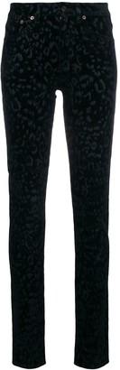 Saint Laurent Leopard-Print Skinny Jeans