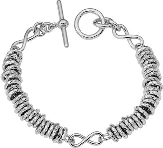 Italian Silver Rings & Infinity Toggle Bracelet, 21.0g
