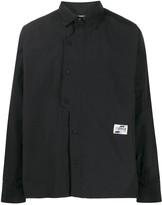 C2H4 asymmetric-placket overshirt