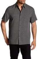 Toscano Square & Cross Silk Blend Regular Fit Shirt