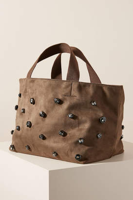 Anthropologie Priscilla Studded Tote Bag
