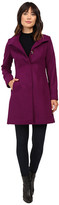 Via Spiga Stand Collar Wool Coat w/ Buttons