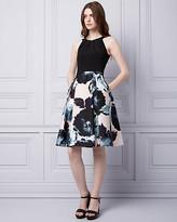 Le Château Floral Print Cotton Sateen Halter Dress