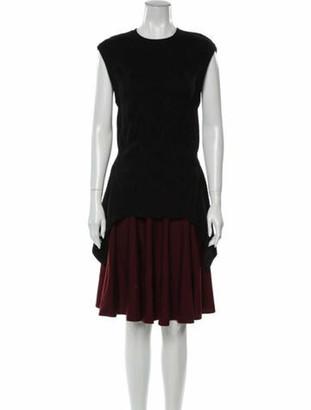 Alexander McQueen Wool Midi Length Dress Wool