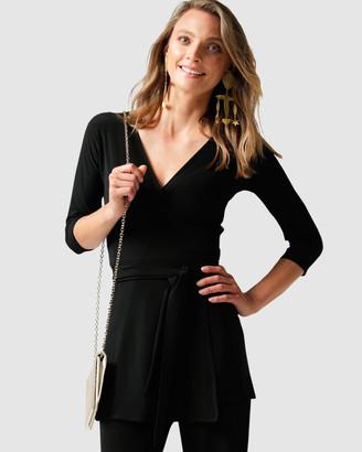 SACHA DRAKE - Women's Black Tops - Turnaround Tunic - Size One Size, 8 at The Iconic
