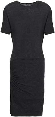 Monrow Cutout Melange Stretch-jersey Mini Dress
