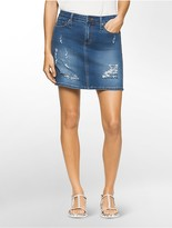 Calvin Klein Denim Cropped Mini Skirt