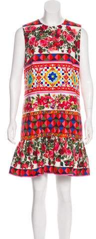 Dolce & Gabbana 2017 Mambo Rose Shift Dress