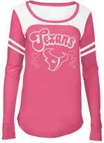 5th & Ocean Houston Texans Pink Slub Long Sleeve T-Shirt, Girls (4-16)