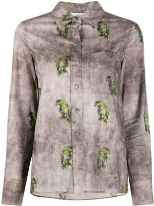 Lardini Parrot-Print Shirt