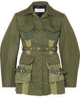 Marques Almeida Marques' Almeida Paneled Shell And Drill Jacket - Army green