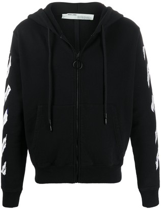 Off-White Airport Tape zipped hoodie