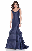 Terani Couture 1623E1655 Off-Shoulder/V-neck Ruffled Mermaid Dress