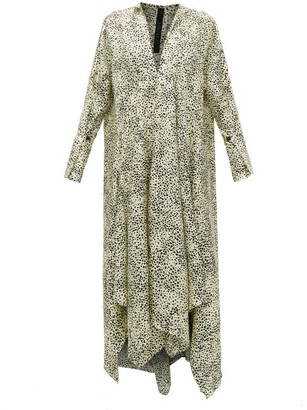 Petar Petrov Alex Abstract Dot-print Silk-twill Dress - Ivory Multi