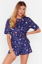 Womens Constellation Star Print Short Pyjama Set - navy - 6