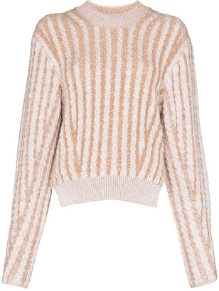 Chloé Two-Tone Cable-Knit Jumper