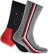 Tommy Hilfiger 2 Pack Iconic Hidden Socks Navy