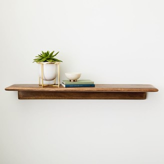 west elm Anton Solid Wood Shelves - Burnt Wax