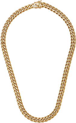 Fallon Ruth 18K Gold-Plated Curb Chain Necklace