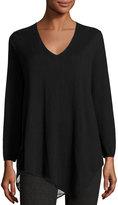 Joie Tambrel Lace-Back Asymmetric Sweater, Black