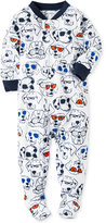 Carter's 1-Pc. Dog-Print Footed Pajamas, Baby Boys (0-24 months)