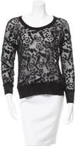 See by Chloe Pattern Scoop Neck Sweater