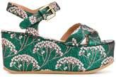 L'Autre Chose jacquard wedge sandals