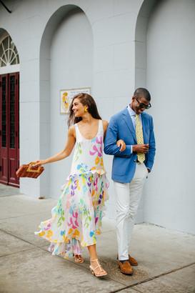 Tanya Taylor Collage Floral Colette Dress