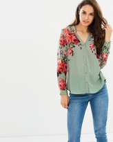 Oasis Rose Placement LS Shirt