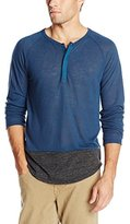 Alternative Men's Eco-Splash Shirttail Henley Shirt