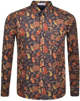 Pretty Green Cavell Long Sleeved Shirt Grey