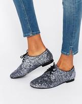 Asos MISSION Lace Up Flat Shoes
