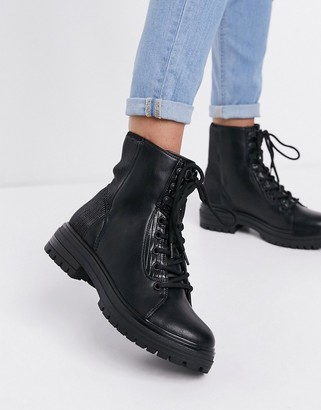 Call it SPRING by ALDO Alexia chunky lace up boots in black